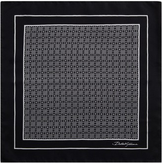 Dolce & Gabbana Swirl-Print Silk Pocket Square