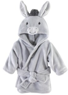Hudson Baby Plush Bathrobe, Donkey, 0-9 Months
