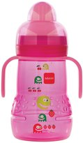 Mam Trainer Bottle with Handles - Pink - 8 oz