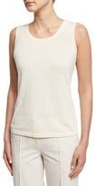 Lafayette 148 New York Scoop-Neck Shell, Cloud