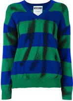 Moschino trompe-l'œil striped jumper