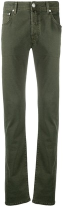 Jacob Cohen Handkerchief-Detail Straight-Leg Trousers