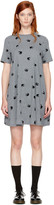 McQ by Alexander McQueen Grey Micro Swallow Babydoll T-shirt Dress