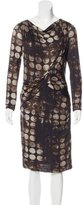 Max Mara Abstract Print Long Sleeve Dress