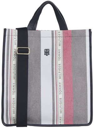 Tommy Hilfiger AW0AW08698_0GY Binding Double Handle Tote Bag