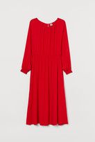 H&M H&M+ Dress with Smocking - Red