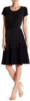 Taylor Flared Topstitched Sweater Dress