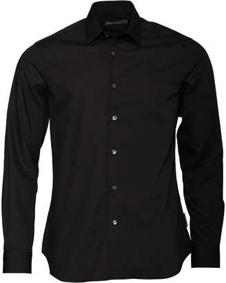 French Connection Mens Formal Plain Cut Shirt Black