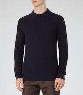 Reiss Sherlock Textured Weave Polo Shirt