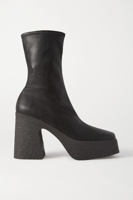 Stella McCartney Vegetarian Leather Platform Ankle Boots