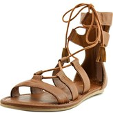Mia Ozie Women Open Toe Synthetic Tan Gladiator Sandal.