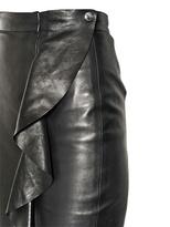 Givenchy Ruffled Nappa Leather Pencil Skirt
