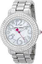 Betsey Johnson Women's BJ00306-01 Analog Display Quartz Silver Watch