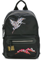 Lanvin bird embroidered backpack