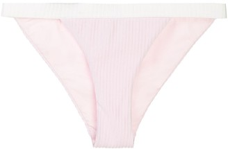 Onia Leila ribbed bikini bottoms