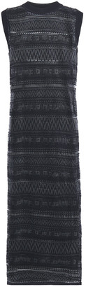McQ Crochet-knit Midi Dress