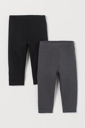 H&M 2-pack Sweatshirt Leggings - Black