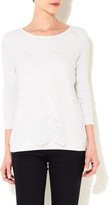 Wallis Ivory Lace Panel Top
