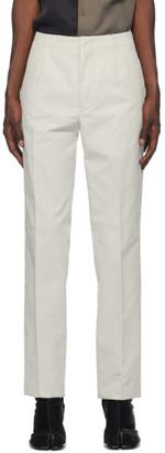 Maison Margiela Off-White Corduroy Trousers