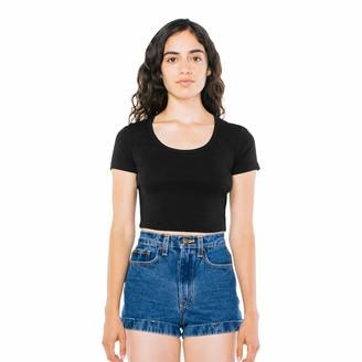 American Apparel Women's Baby Rib Crop Short Sleeve T-Shirt