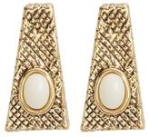 House Of Harlow Tanta Crosshatch Stud Earrings