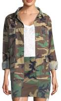 KENDALL + KYLIE Open Back Camo-Print Jacket