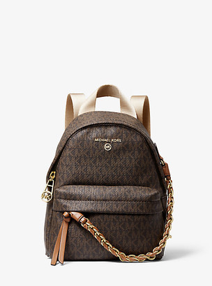 MICHAEL Michael Kors MK Slater Extra-Small Logo Convertible Backpack - Vanilla/acorn - Michael Kors