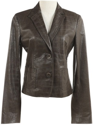 Valentino Brown Leather Jackets