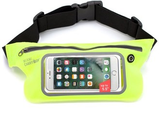 "Miami Carryon Running Workout Fitness Belt Waist Pack, Sweat-Proof for smartphones up to 5.5"". Touch Screen Sensitive Access Window, All Waist Sizes (Yellow)"