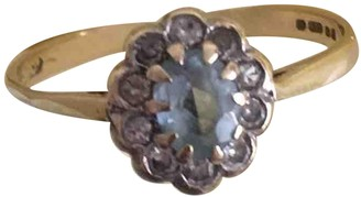 Non Signé / Unsigned Non Signe / Unsigned Art Deco Blue Yellow gold Rings