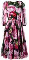 Dolce & Gabbana rose print chiffon dress - women - Silk/Cotton/Polyamide/Spandex/Elastane - 42