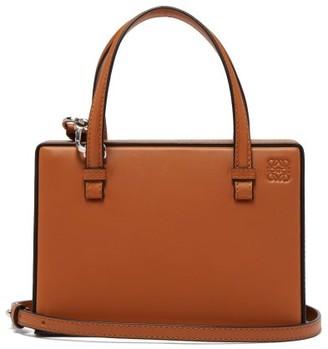Loewe Postal Small Leather Bag - Tan