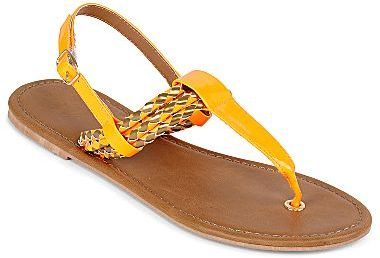 JCPenney T-Strap Thong Sandals