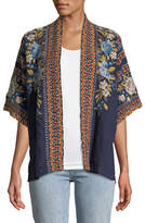 Johnny Was Hira Embroidered Linen Kimono, Plus Size