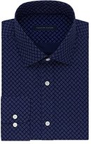 Tommy Hilfiger Men's Non Iron Regular Fit Print Spread Collar Dress Shirt