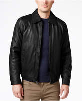 Nautica Men's Big & Tall Point Collar Leather Jacket