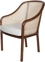 Worlds Away Katherine Armchair, White