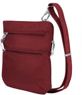 Travelon Anti-Theft Classic Slim Double Zip Cross Body Bag Crossbody Bag