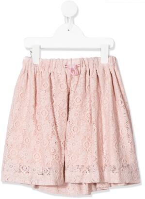 Raspberry Plum Brexley lace skirt