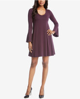 Karen Kane Bell-Sleeve Fit & Flare Dress