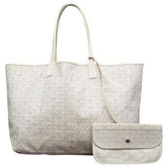 Goyard Saint-Louis White Cloth Handbags