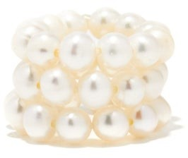 Timeless Pearly Set Of Three Pearl Stacking Rings - Pearl