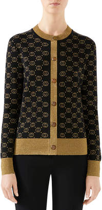 Gucci Long-Sleeve Fine-Wool Cardigan