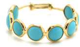 Tresor Collection - Gemstone Stackable Ring Band in 18k Yellow Gold Turquoise