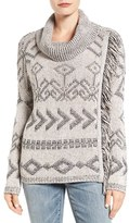 Lucky Brand Women's Side Fringe Turtleneck