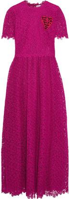 Valentino Embroidered Guipure Lace Maxi Dress