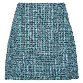 Dorothy Perkins Womens **Vero Moda Blue Boucle Mini Skirt, Blue