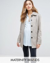 Mama Licious Mama.licious Mamalicious Maternity Trench Jacket