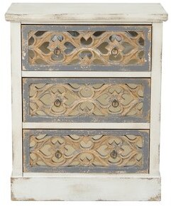 Bungalow Rose Anjolie 3 Drawer Accent Chest