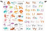 Ambesonne Girls Boys Kids Baby Room Educational Decor Collection, Colorful Alphabet Zoo Letters Learn to Read Mr.Bear Design, Window Treatments for Kids Bedroom Curtain 2 Panels Set, 108X84 Inches